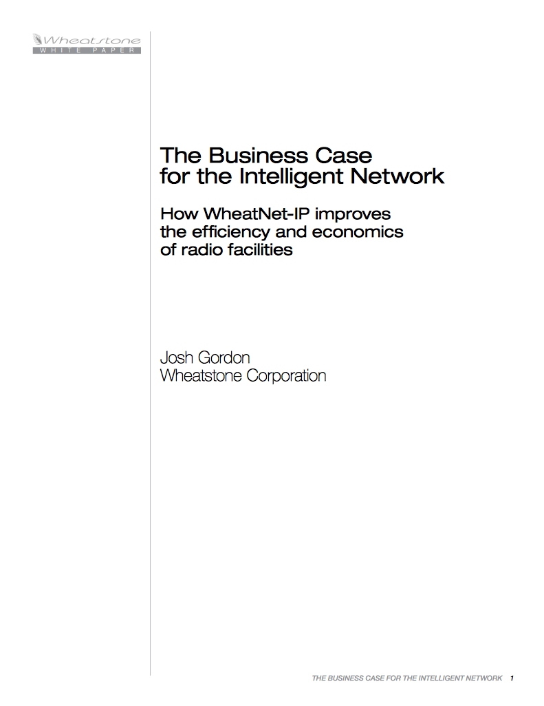 The Business Case for the Intelligent Network